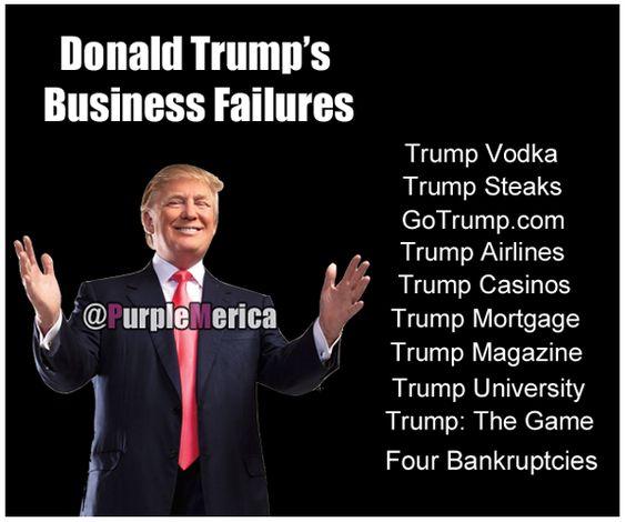 Donald Trump Business Failures Donald Trump's Many