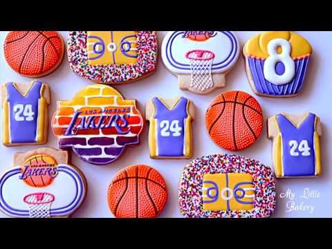 Basketball Birthday Cookies For Los Angeles Lakers Little Fan Youtube Happy Birthday Cookie Birthday Cookies Basketball Cookies