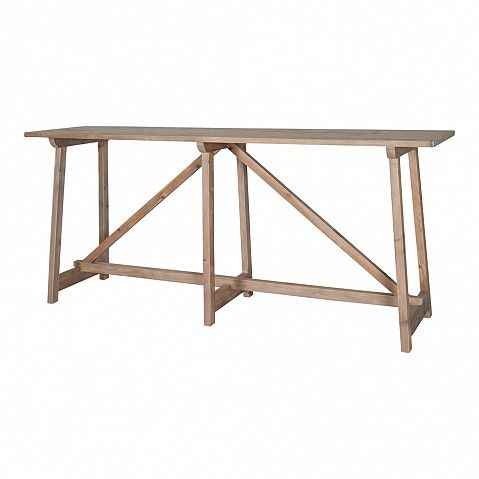 Rustic White Washed Elm Console Table With Shelf   Trade Secret | Console  Tables, Desks, Side Boards And Side Tables | Pinterest | Rustic White, ...
