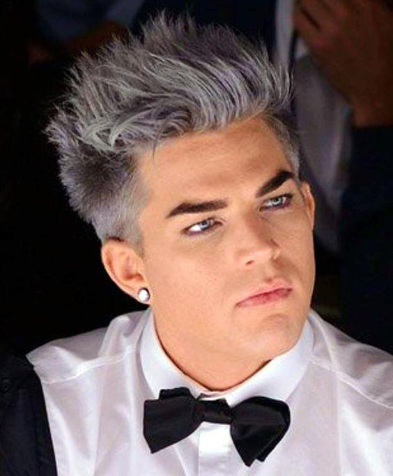 adam lamberts romantic grey hair nicely done my