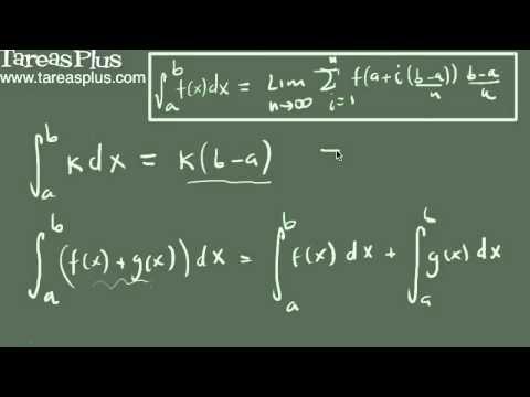 Integral definida y sus propiedades básicas