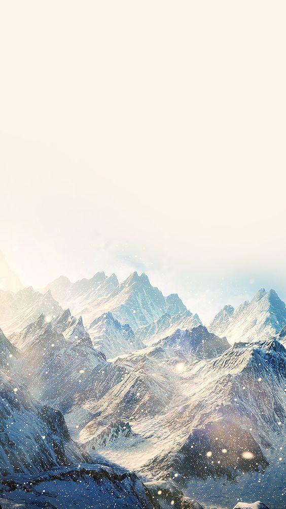 Nature Snow Ski Mountain Winter iPhone 5s wallpaper ...