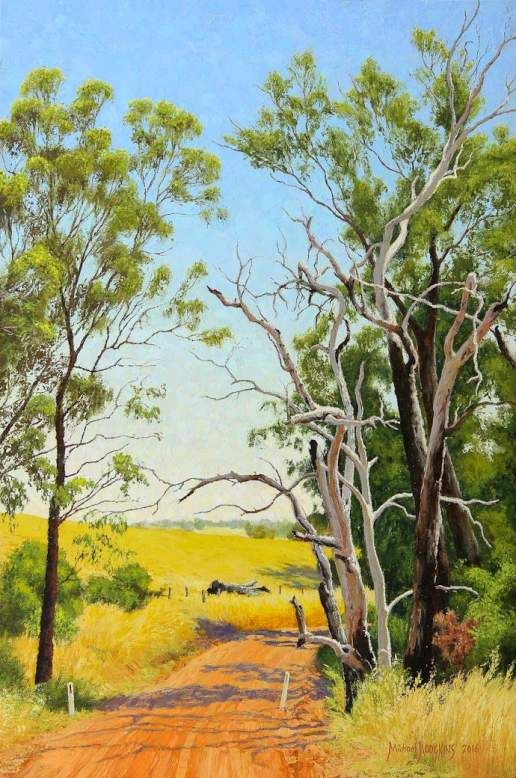 The Start Of Summer Australian Landscape Oil Painting By Michael Hodgkins Landscapeart Oiloncanv Landscape Art Painting Oil Painting Landscape Oil Painting