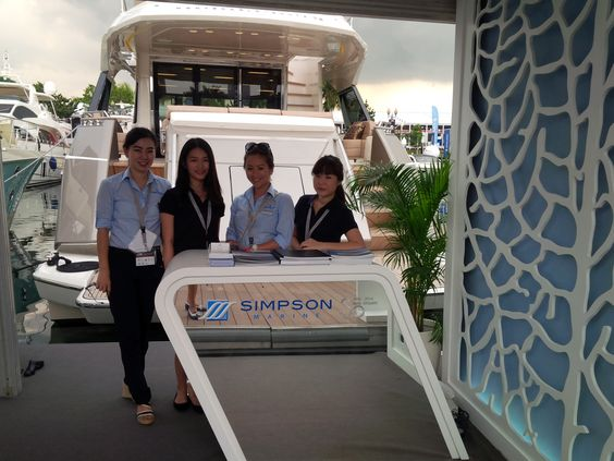 #MonteCarloYachts booth at Singapore Yacht Show 2014 #simpsonmarine #SYS #SGP #SingaporeYachtShow #SingaporeYachtShow2014 #Singapore
