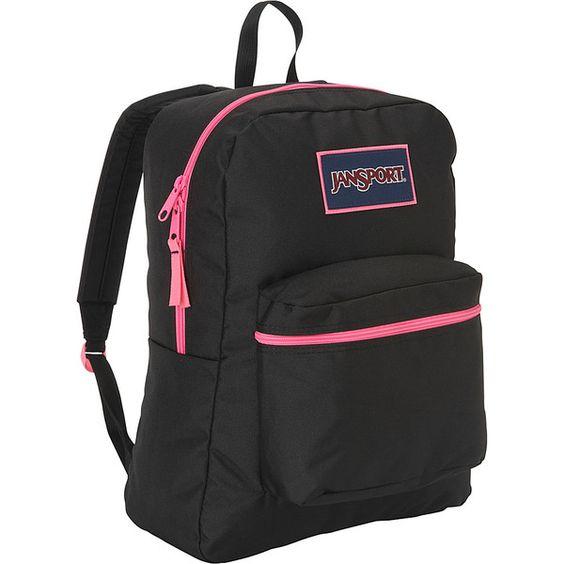 JanSport Overexposed Backpack ($35) ❤ liked on Polyvore featuring bags, backpacks, backpack, pink, school & day hiking backpacks, handle bag, knapsack bags, backpacks bags, strap bag and zip bags
