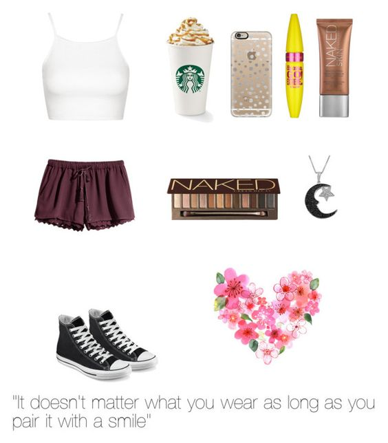 """""""Bored, comment if you are too."""" by sabrinacmiller ❤ liked on Polyvore featuring Converse, H&M, Topshop, Casetify, Jewel Exclusive, Maybelline and Urban Decay"""