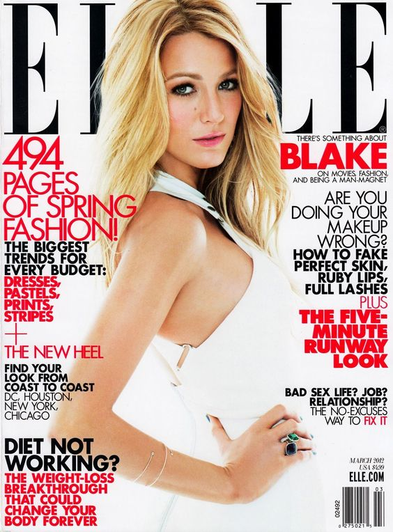 Blake Lively - Elle Magazine Cover [United States] (March 2012)