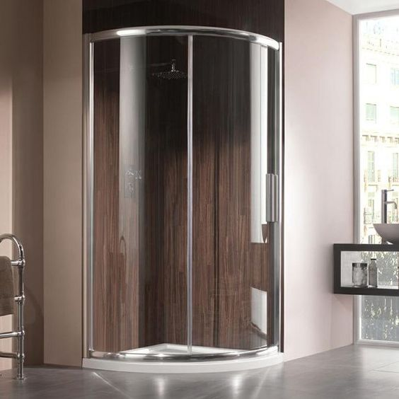 Manhattan M8 Quadrant Uno Shower Enclosure. Sleek sliding door, polished chrome frame #Bathrooms