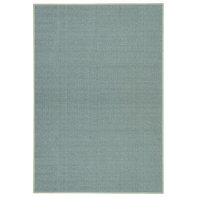 Rugnur Hammam Maxy Home Solid Single Colour Plain Ocean Blue Area Rug & Reviews | Wayfair.ca