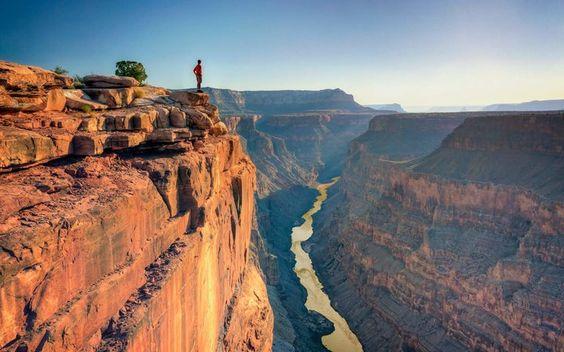 9. Admiring the Grand Canyon in Arizona