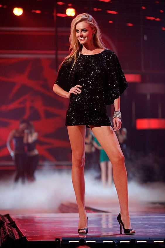 Yes, it is short! And the sequins add just the right amount of subtle sparkle. A great dress for a night out. #FashionStar