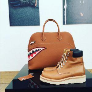 Hermes Gold Shark Print Bolide Bag 4 - Fall 2016