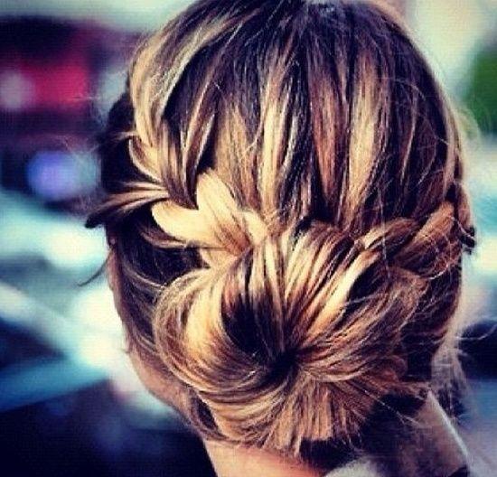 Bun w/ braid