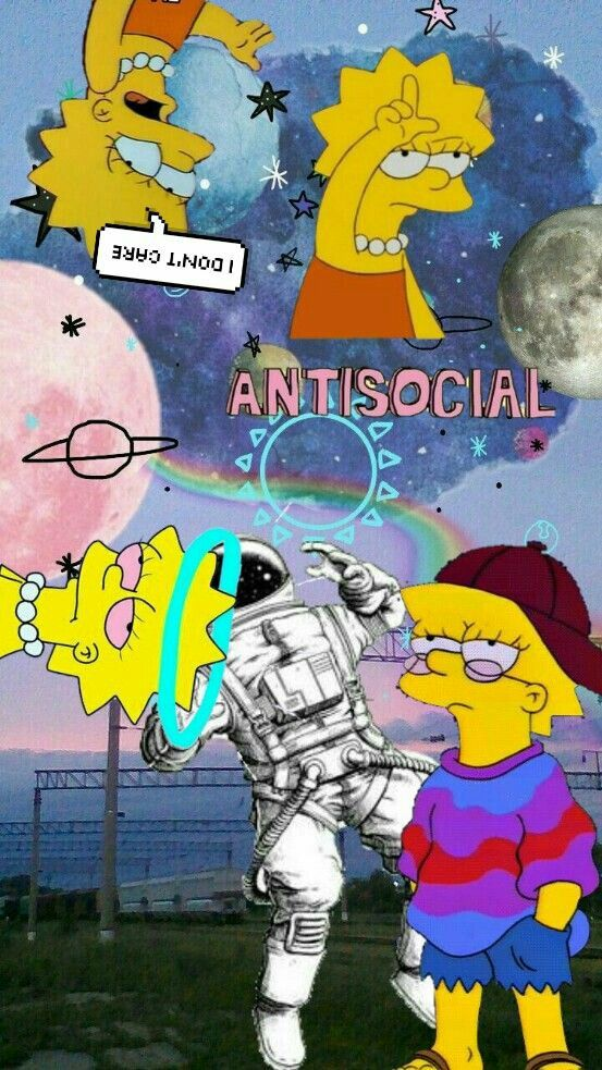 Baddie Mood Aesthetic Simpsons Wallpaper