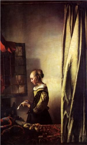Girl Reading a Letter at an Open Window - Johannes Vermeer