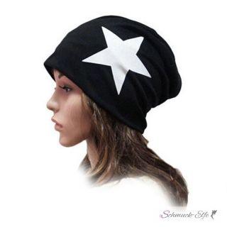 Mütze / Beanie WHITE STAR schwarz