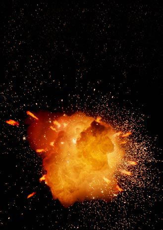 explosion painting: