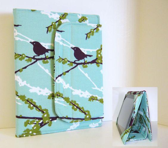 iPad Cover Hardcover iPad Case Cover Custom iPad iPad 2 iPad 3 Cover Sparrows in Plum. $49.00, via Etsy.