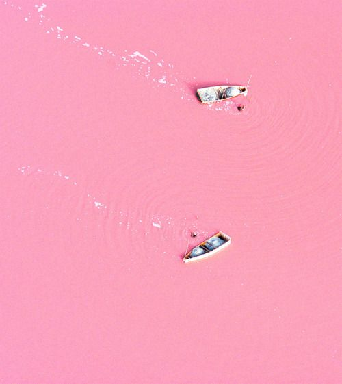 Situated north of the Cap Vert Peninsula in Senegal, northeast of Dakar, Lake Retba, or as the French refer to it Lac Rose, is pinker than any milkshake.  Experts say the lake gives off its pink hue due to cyanobacteria, a harmless halophilic bacteria found in the water. Retba has a high salt content, much like that of the Dead Sea, allowing people to float effortlessly in the massive pink water.