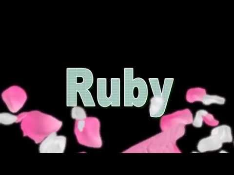 Ruby Name Style Design 101 Ruby Names Cute Names