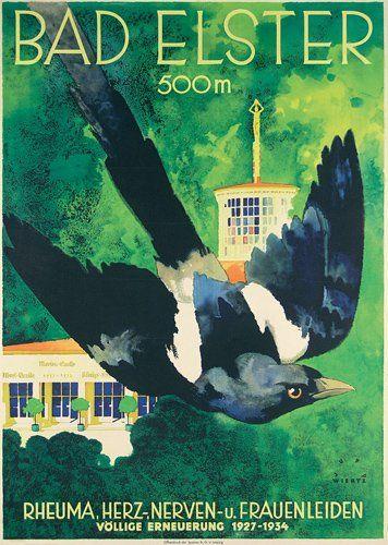 Jupp Wiertz Reise Plakat Travel Poster 1935 : Bad Elster -  Lot 246