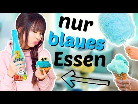 24 Stunden Nur Blaues Essen Viktoriasarina Youtube Blaues Essen Victoria Und Sarina Essen