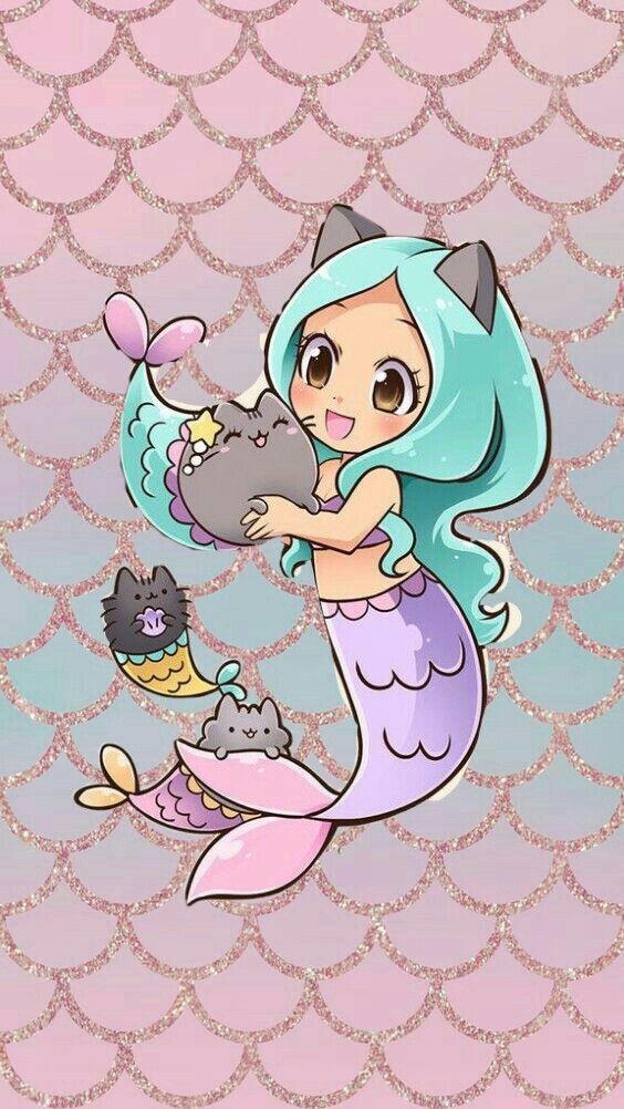 Who Is The Cutest One Mermaid Wallpapers Mermaid Drawings Mermaid Art