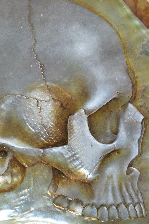 Gregory Halili's Carved Mother of Pearl Skulls: JuxtapozGregoryHalili
