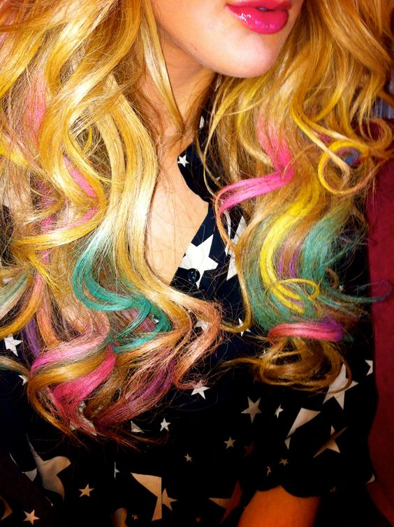 i want to do just the pink chalking in my hair