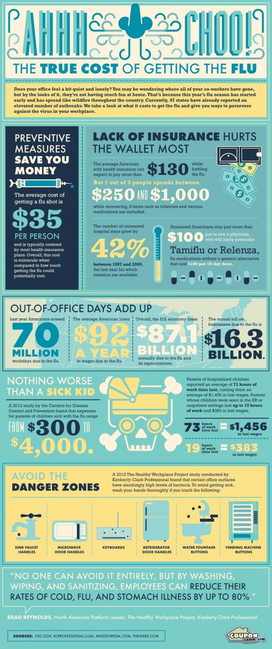 Infographic: Ah-choo! The True Cost of Getting the Flu