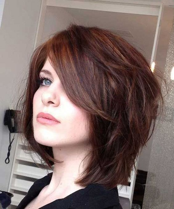 Layered Medium Length Hairstyles Round Faces: Haircuts For Round Chubby Faces
