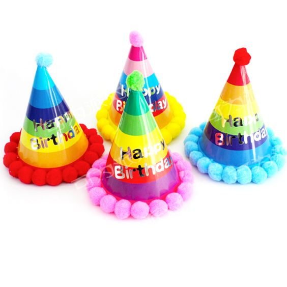 Party Celebration Ball Dot Birthday Hat Birthday Party Decoration Kid Party Cap Pompons Hat for Children event party supplies-in Event & Party Supplies from Home & Garden on Aliexpress.com | Alibaba Group