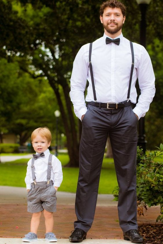 Super sweet wedding day photo of the groom & his son | A. Harris Photography