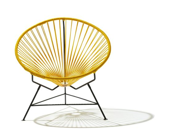 Acapulco Chair Saucer Yellow Occasional Chairs