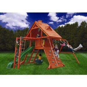 Gorilla Playsets Sun Palace II with Monkey Bars Playground System