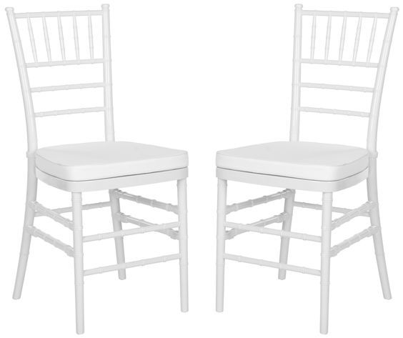 Set of Two Carly Side Chairs in White design by Safavieh