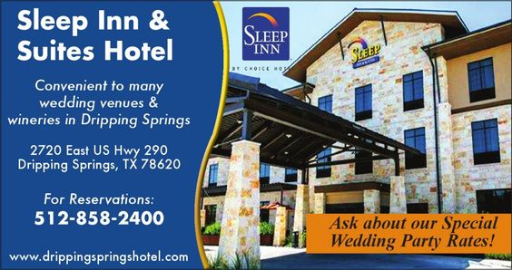 Sleep Inn Suites Hotel Convenient To Many Wedding Venues Wineries In Dripping Sprin And Springs Tx Texas