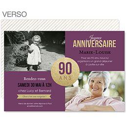 90 anniversaire invitation paillete crer pour fter la star dun jour