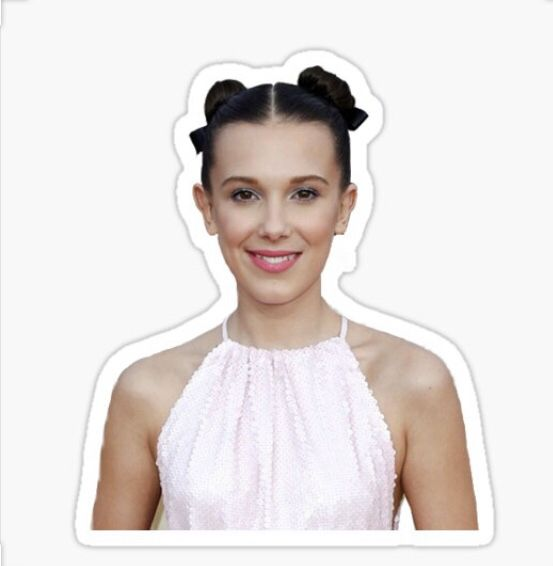 Millie Bobby Brown Sticker In 2020 Millie Bobby Brown Bobby Brown Stranger Things Sticker