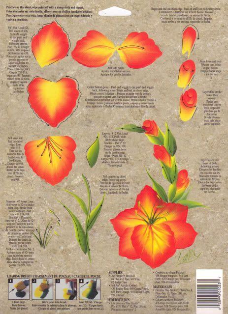 """one stroke rtg   Marigold Gladiolus"""" 1 Stroke RTG 1023 Donna Dewberry   eBay"""