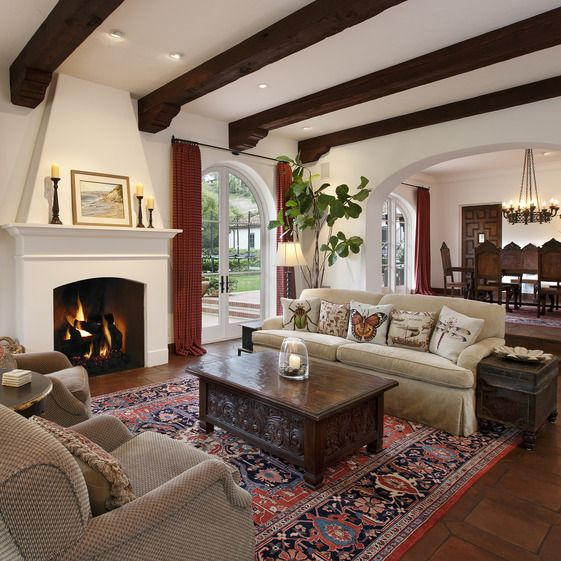 Living Room In Spanish Spanish Colonial  Living Room  New House  Pinterest  Spanish .