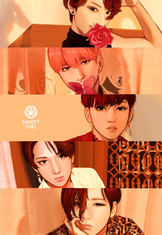 "B1A4 Sweet Girl Album Cover fant art via VB on Twitter: ""헤더사진 원본-SWEET GIRL http://t.co/gKfsrPnsw6"""