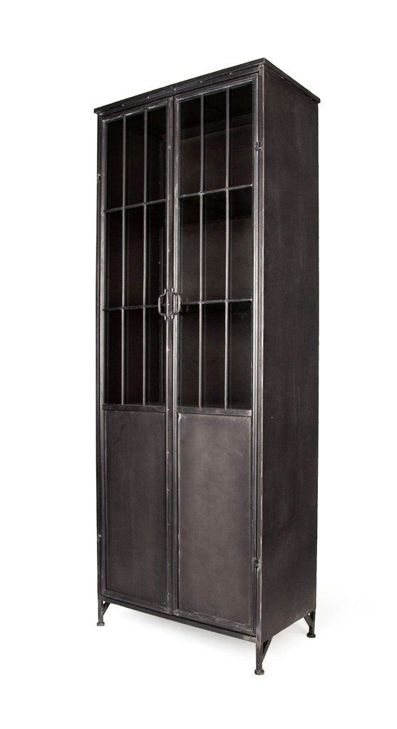 This Full Size Metal Storage Cabinet Has A Unique Industrial Elegance It Features 4 Fixed Metal Shelves 2 Large Metal Storage Cabinets Metal Cabinet Cabinet