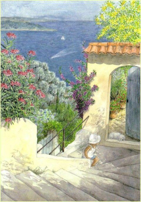 Ichikawa Satomi. (市川 里美, Japanese, 1949~) 프랑스에서 활동하고 있는 일본 출신의 동화 작가이자 일러스트레이터, 이치카와 사토미의 작품 속 아름다운 풍경.: