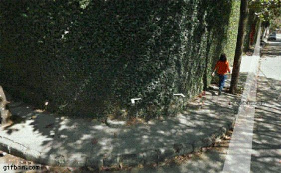 """The """"Falling Down Right In Front Of The Google Maps Car"""" situation:"""