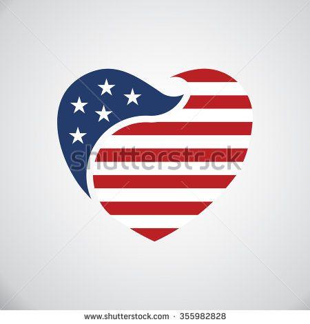 american flag clipart vector