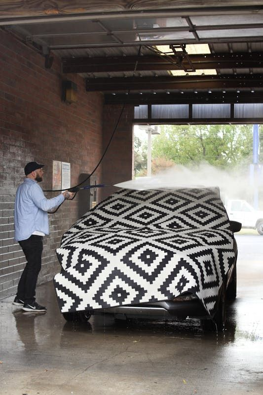 Can You Wash A Rug At The Car Wash We Find Out Cleaning Area Rugs Area Rugs Diy Dining Rug