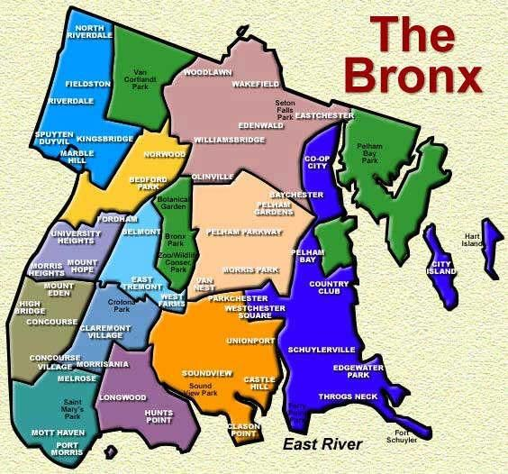 Map of the Bronx  The Bronx New York  Pinterest