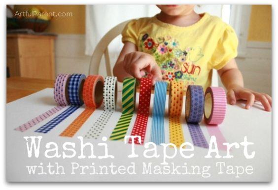 Washi Tape Art with Printed Masking Tape