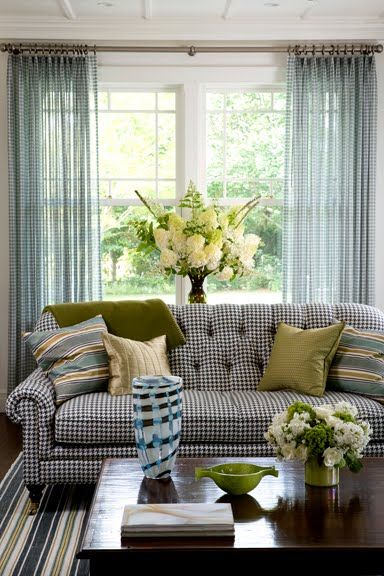 Black And White Gingham Curtains - Curtains Design Gallery
